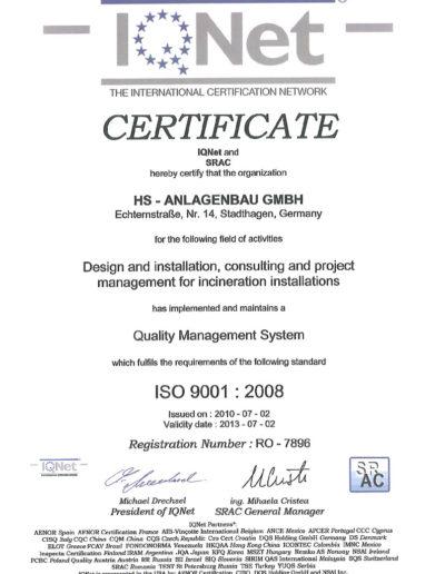 Zertifikat - ISO 9001